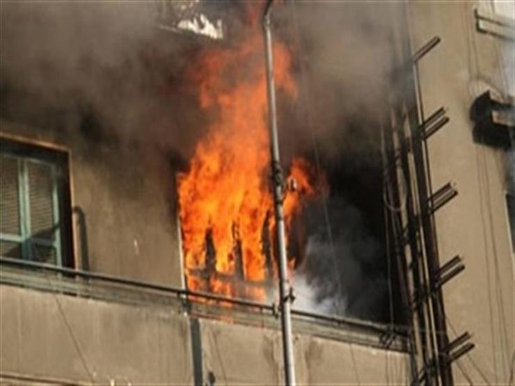 4 سيارات إطفاء تخمد حريقا في شقة بالمريوطية