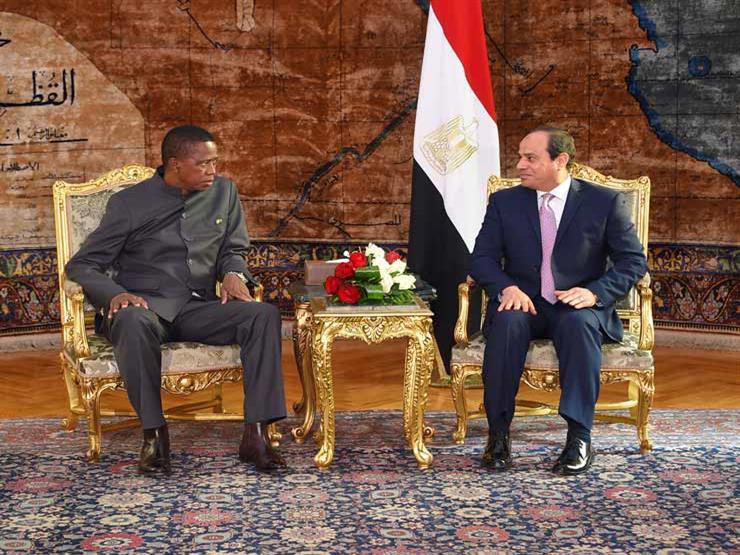 """الرئيس الزامبي يثمن مبادرة السيسي لدعم الشراكه """"المصرية - الإفريقية"""""""