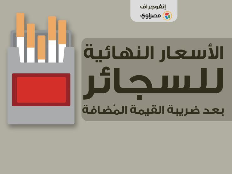 الأسعار النهائية للسجائر بعد ضريبة القيمة المُضافة (انفوجراف...مصراوى