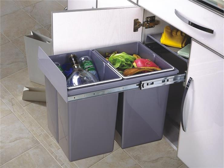 Integral Kitchen Waste Bins