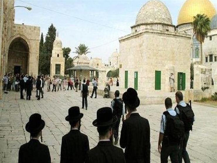 مجموعات من المستوطنين اليهود يقتحمون باحات المسجد الأقصى