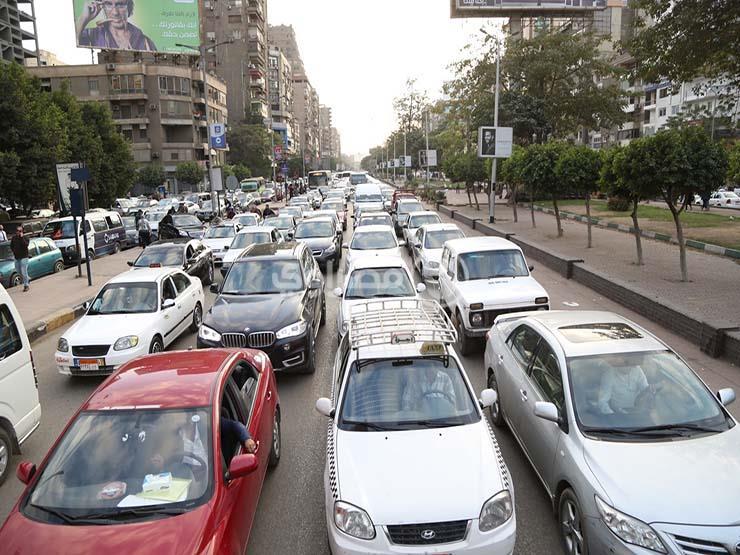 حركة المرور: ازدحام بمدينة نصر والمعادي والسودان والهرم
