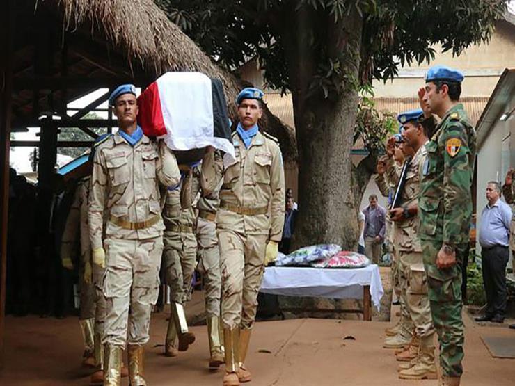 بعثة الأمم المتحدة تقيم مراسم تأبين لضابط مصري في جنوب إفريقيا