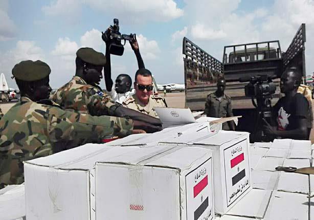 مصر ترسل شحنة مساعدات طبية إلى دولة جنوب السودان