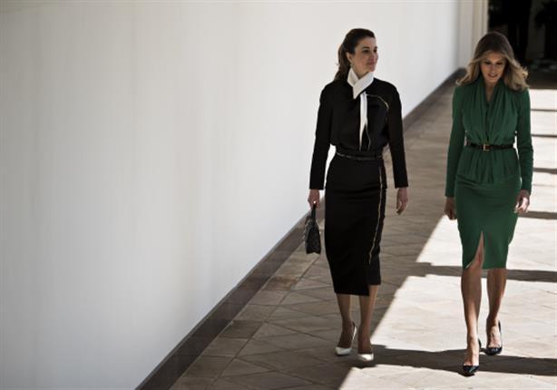 الملكة رانيا وميلانيا ترامب