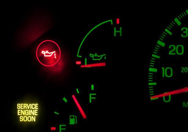 ماذا تعني علامة الزيت لو أضاءت في لوحة القيادة