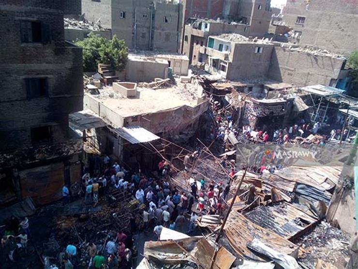 """أهالي إمبابة وسط الحريق """"شفنا يوم القيامة"""" (فيديو وصور)"""