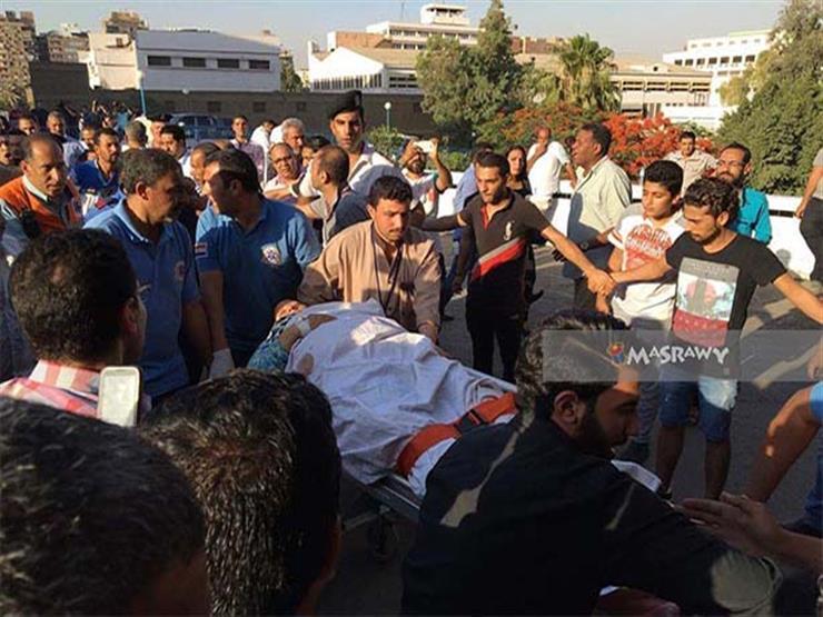 """بالصور- وصول 11 مصابًا بحادث المنيا إلى معهد ناصر.. ونقل طفل لـ""""الجلاء العسكري"""""""