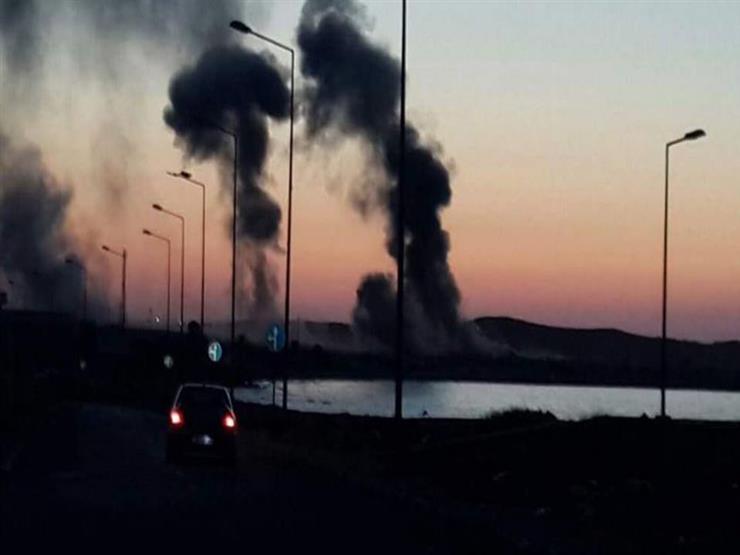 """اللقطات الأولى لتدمير معسكرات تدريب منفذي حادث """"أتوبيس المنيا"""""""