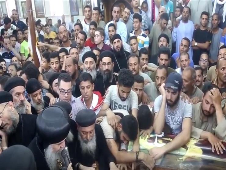 الصلاة علي شهداء حادث المنيا بالكنيسة