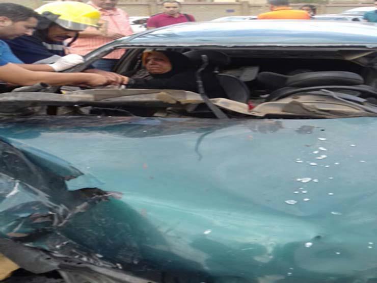بالصور.. إصابة 6 أشخاص في حادث تصادم أعلى كوبري الشهيد بمدينة نصر