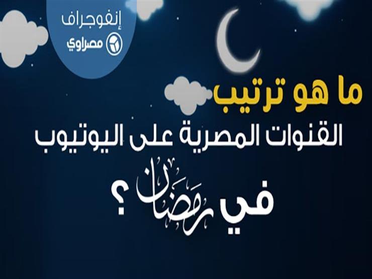 إنفوجرافيك| ترتيب القنوات الفضائية المصرية على يوتيوب في رمضان