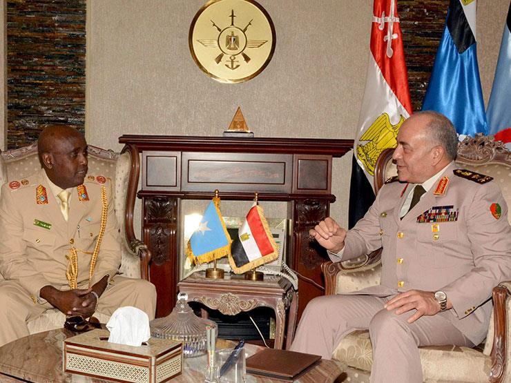 الفريق محمود حجازى يلتقى قائد الجيش الصومالى