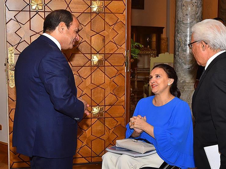 من هي جابرييلا ميتشيتي التي قابلت السيسي على كرسي متحرك ...مصراوى