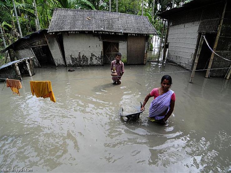وفاة 64 شخصًا وتشريد الآلاف بسبب الفيضانات في أنحاء الهند