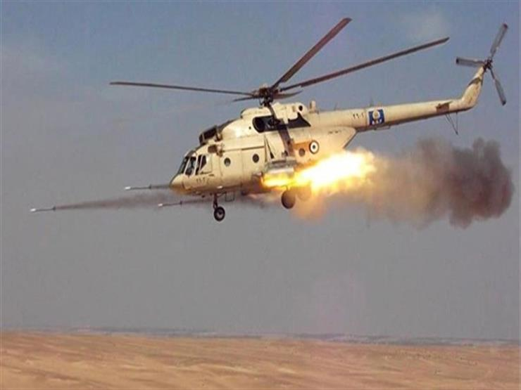 مقتل 10 إرهابيين في قصف جوي لمنزل بالعريش
