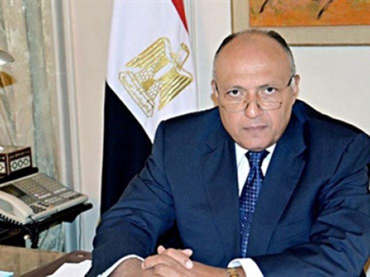 شكري ولودريان يبحثان بباريس الملف الليبي والأزمة مع قطر