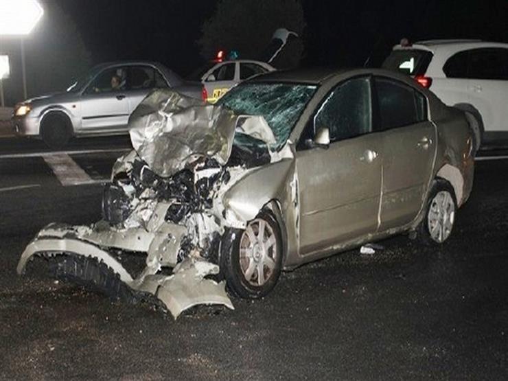بالأسماء.. مصرع شخصين وإصابة 4 في حادث تصادم سيارتين بالوادي الجديد