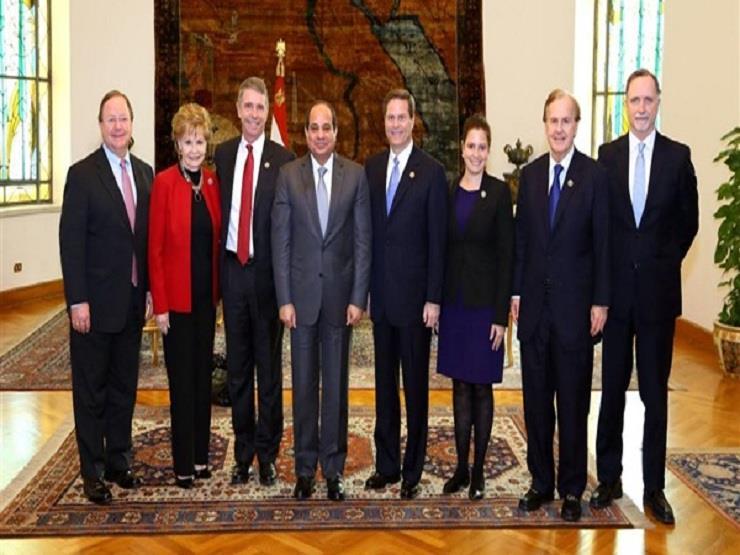 وفد الكونجرس الأمريكي يغادر القاهرة بعد لقاء السيسي