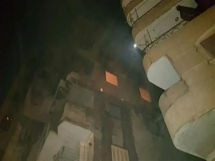 16 عربة إطفاء تخمد حريقا بمخزن أقمشة في إمبابة