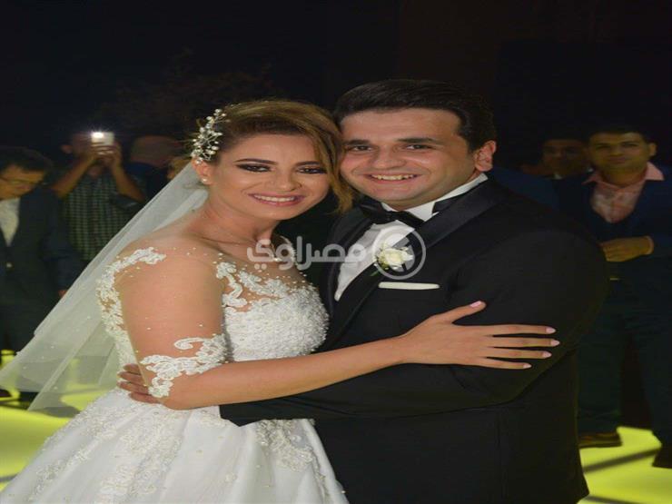 """بالصور.. نجوم الفن و""""مسرح مصر"""" في حفل زفاف مصطفى خاطر وروان هلال"""