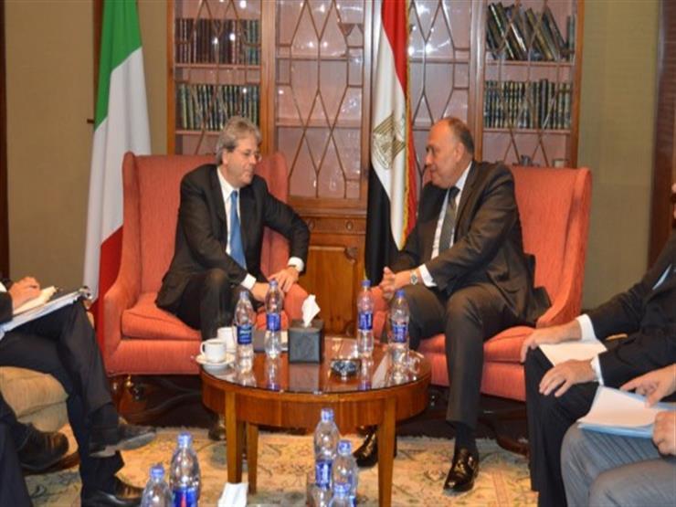 وزير الخارجية يلتقي نظيره الإيطالي ويبحثان القبض على محامي أسرة ريجيني