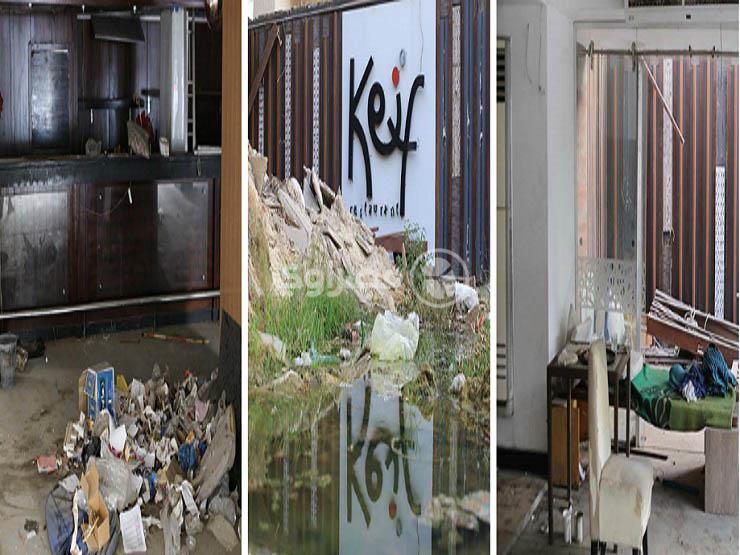 "حُطام وقمامة.. ""مصراوي"" داخل كافيه ""كييف"" بعد سجن قاتل ""شاب المقهى"" - (صور)"