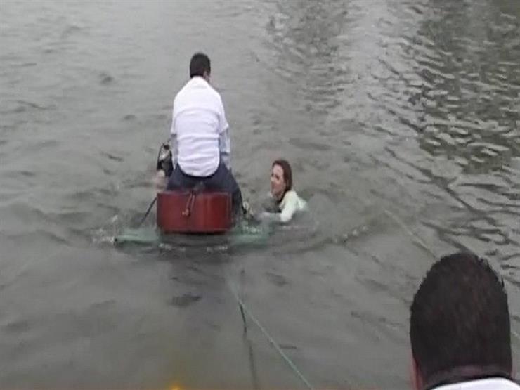 منى الشاذلي تعرض فيديو حصري لكواليس مشهد الغرق بفيلم  يا أنا...مصراوى