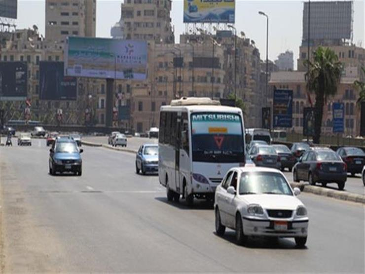 انتظام حركة المرور بمحاور وميادين القاهرة والجيزة