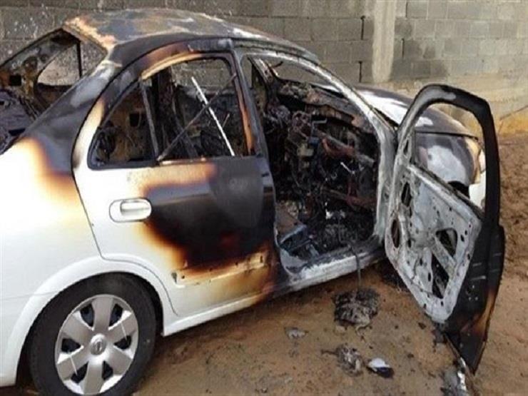تفحم سيارة ملاكي في فيصل دون إصابات