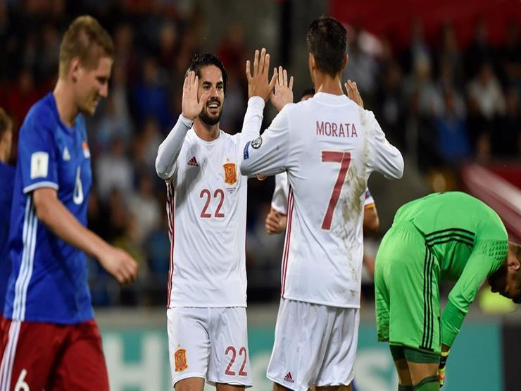 بالفيديو- إسبانيا تكتسح ليشتنشتاين بثمانية أهداف وتقترب خطوة من المونديال