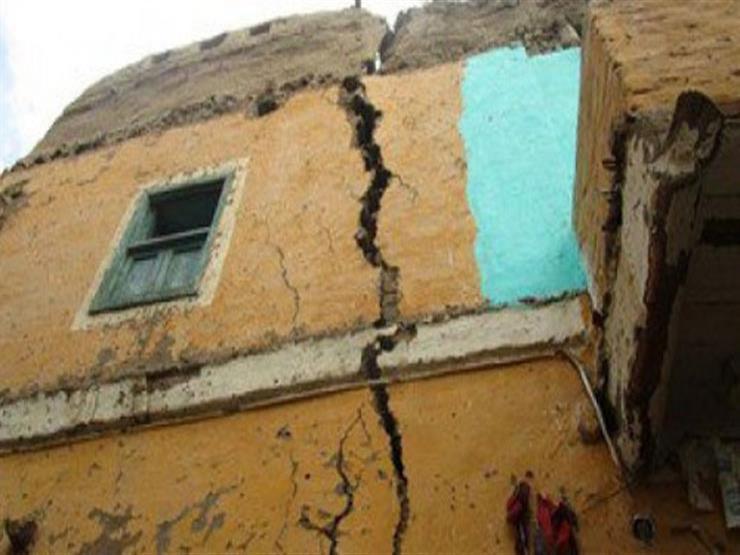 انهيار وتصدع 4 منازل دون خسائر بشرية في سوهاج