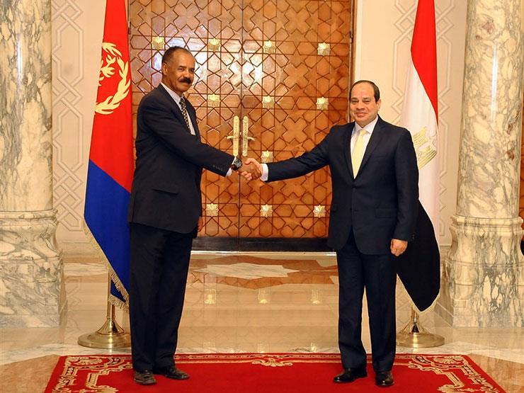 الرئيس السيسي يستقبل نظيره الإريتري بقصر الاتحادية