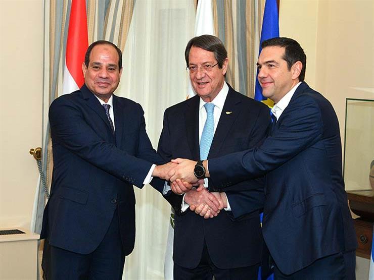 السيسي والرئيس القبرصي ورئيس وزراء اليونان يشهدون توقيع اتفاقيات تعاون