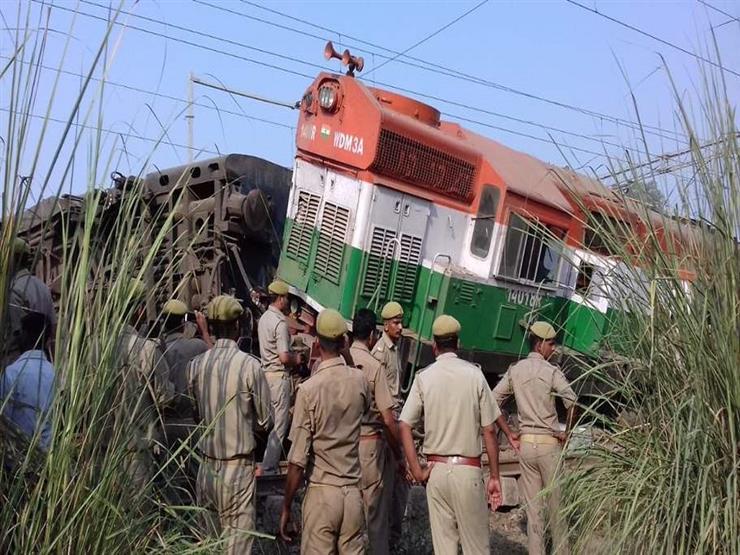 قتلى وجرحى في خروج قطار عن مساره شمال الهند