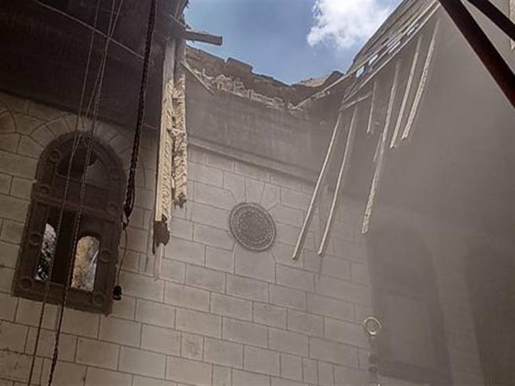 إصابة 4 عمال إثر سقوط سقف ملحق بمسجد في المطرية
