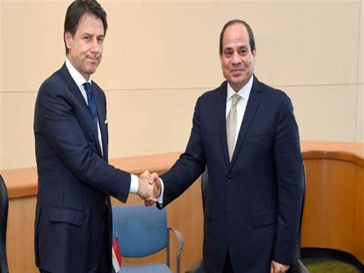 السيسي ورئيس وزراء إيطاليا يبحثان هاتفيًا تسوية الأزمة الليب...مصراوى