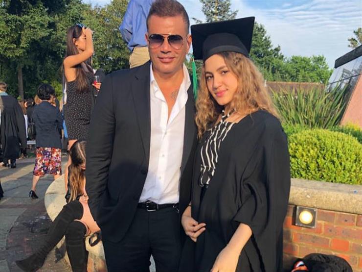 كنزي دياب تنشر صورة لها مع والدها من كواليس حفل لندن