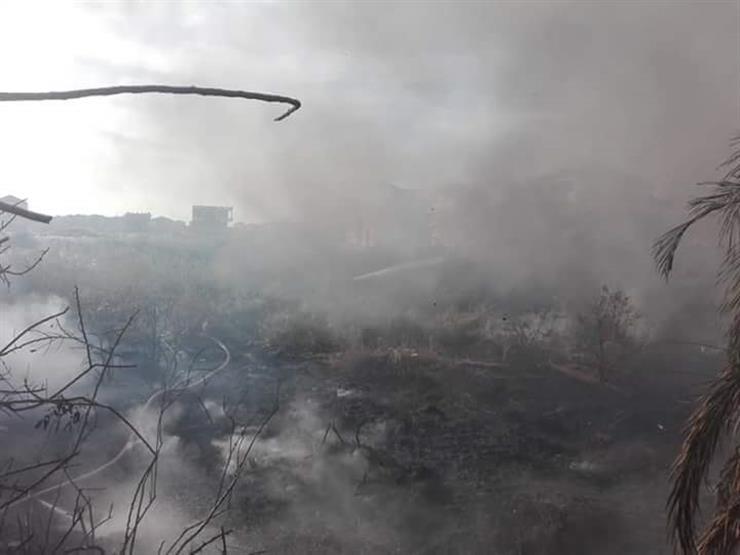 إخماد حريق اندلع بمنطقة الامتداد العمراني برأس البر