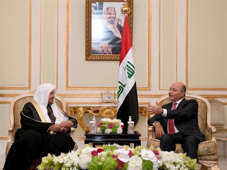 الرئيس العراقي يستعرض مع رئيس مجلس الشورى السعودي مجالات التعاون