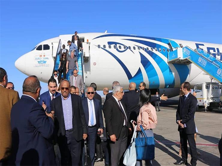 مطار شرم الشيخ يستقبل وفود منتدى شباب العالم (1)