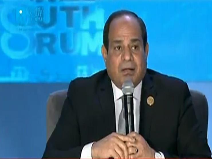 السيسي:  أنا عايش نايم صاحي بمصر من 50 سنة