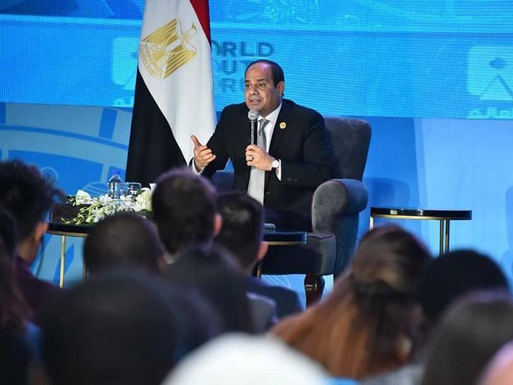 15 رسالة من  الرئيس السيسي في منتدى شباب العالم- انفوجراف