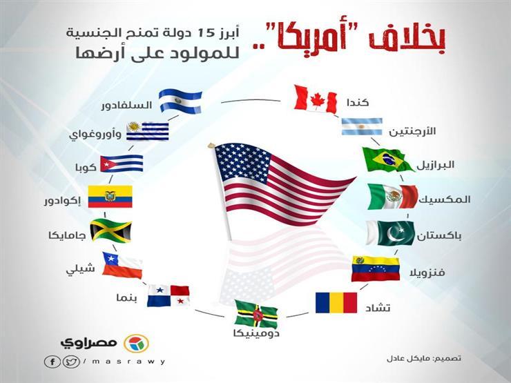 إنفوجراف| بخلاف أمريكا.. 15 دولة تمنح الجنسية للمولود على أرضها