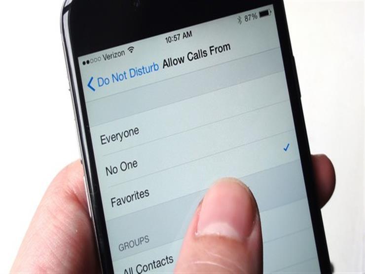 لمستخدمي آيفون| كيفية تلقي مكالمات أثناء تفعيل وضع عدم الإزعاج