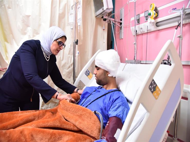وزيرة الصحة تكشف تفاصيل الحالة الطبية لمصابي حادث المنيا