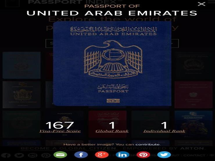 جواز السفر الإماراتي