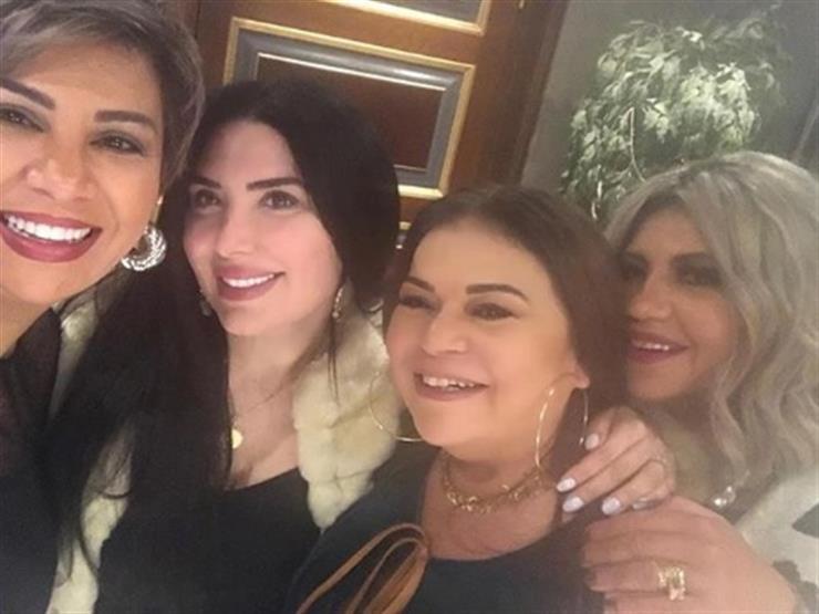 عبير صبري تحتفل بعيد ميلاد ماجدة زكي.. (صورة)