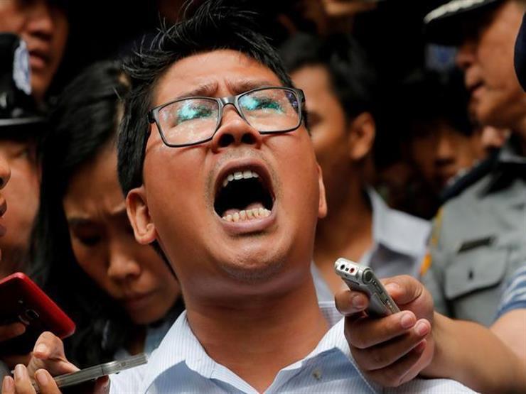 تظاهرة سلمية تطالب بالإفراج عن صحفيي رويترز المسجونين في ميانمار