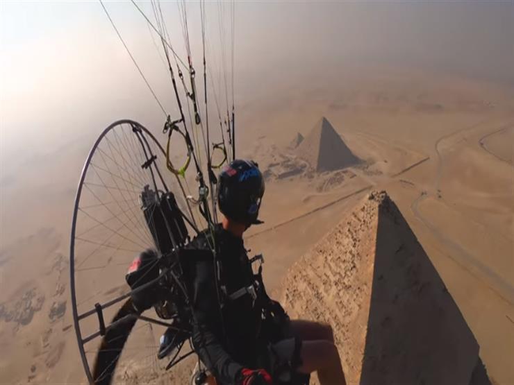 مغامر إسباني يصور لقطات مذهلة للأهرامات من السماء -فيديو